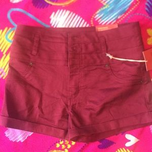 Red Mossimo jean shorts